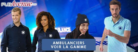 Vêtements et objets personnalisés pour ambulanciers