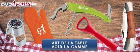 Objets art de la table personnalisés