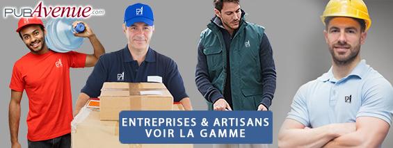 Vêtements et objets personnalisés pour entreprises et artisans