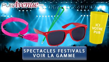 Goodies personnalisés spectacles festivals