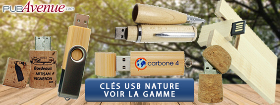 Clés USB personnalisées bois