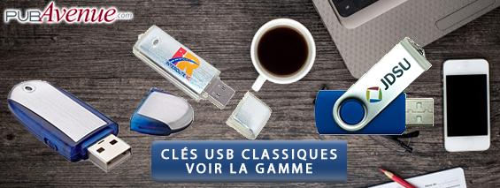 Clés USB personnalisés classiques
