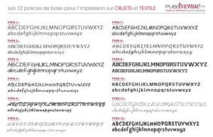 Typographie de base sur objets et textile