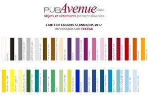 Couleurs de base de l'impression sur textile
