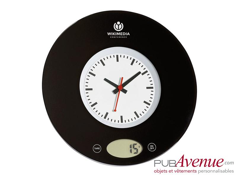 Balance cuisine horloge personnalisée