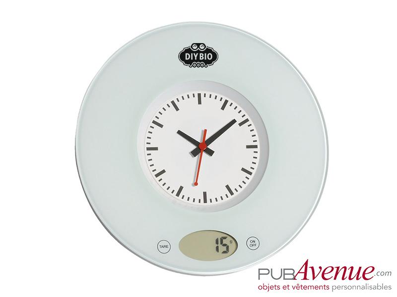 Balance cuisine personnalisable horloge