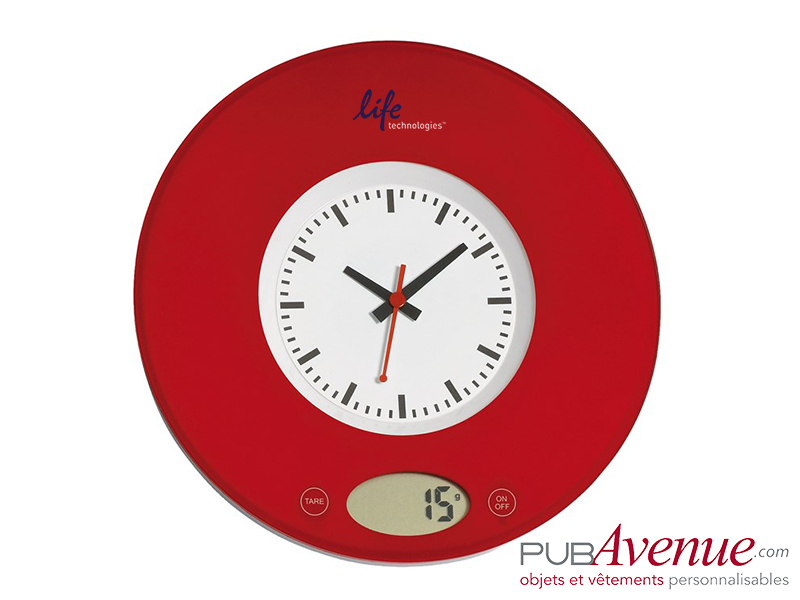 Balance cuisine personnalisée horloge