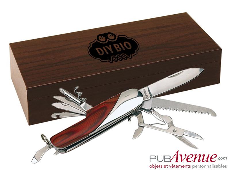 Couteau coffret bois personnalisé