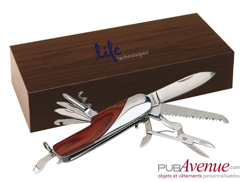 Couteau personnalisable coffret bois