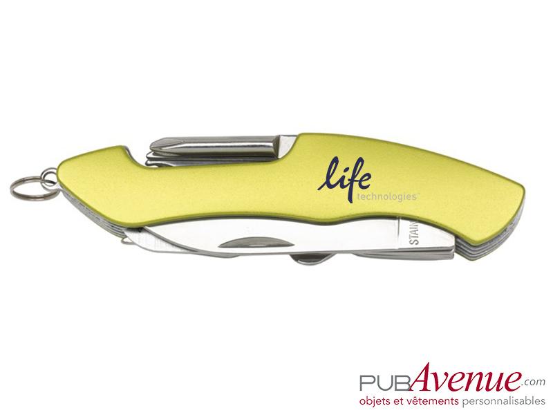 Couteau multifonction 11 accessoires personnalisable