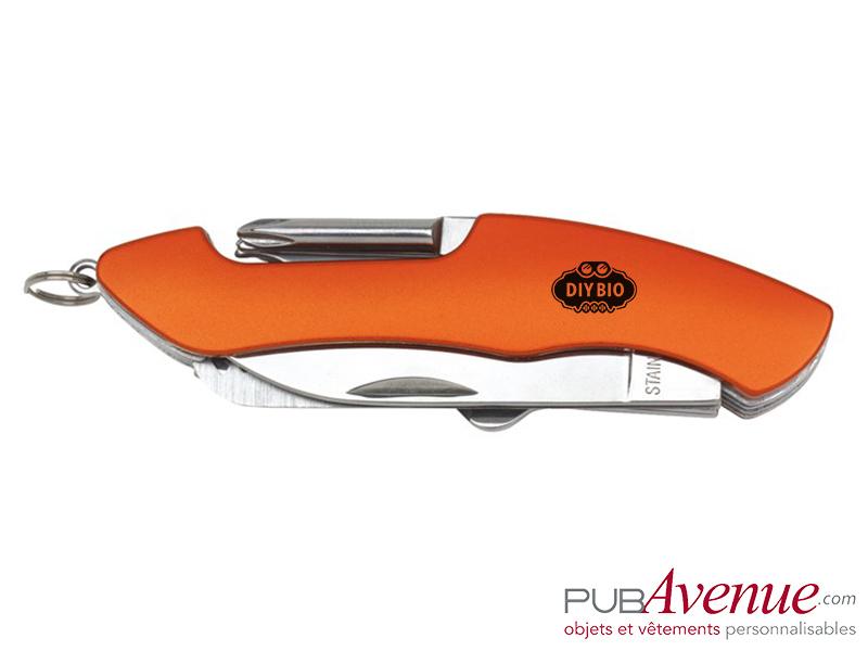 Couteau multifonction personnalisé 11 accessoires