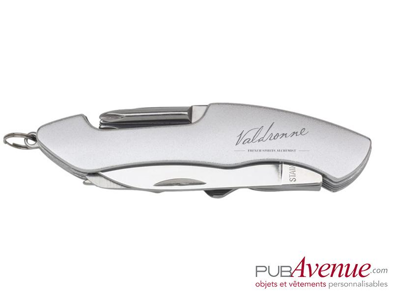 Couteau multifonction personnalisable 11 accessoires