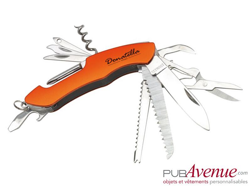 Couteau multifonction publicitaire 11 accessoires