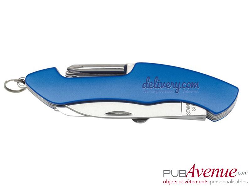 Couteau multifonction 11 accessoires personnalisé