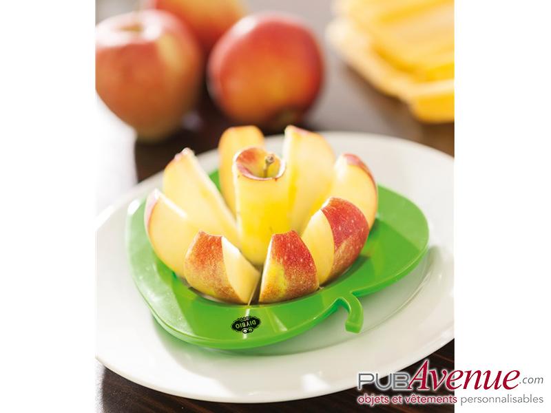 Découpe pomme publicitaire trancheur fruit
