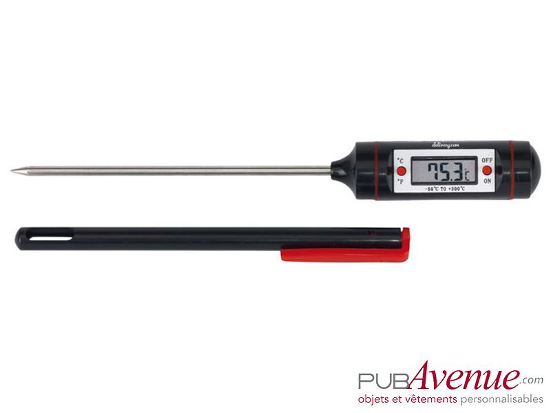 Thermomètre LCD personnalisable cuisine