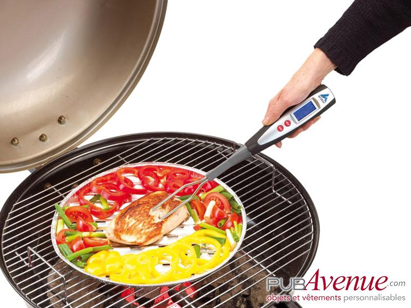 Fourchette BBQ personnalisée thermomètre