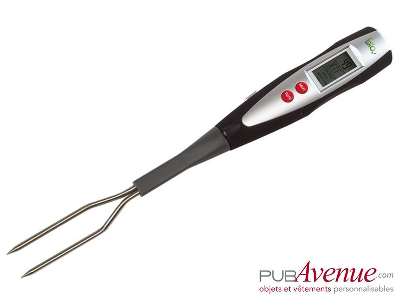 Fourchette BBQ publicitaire thermomètre