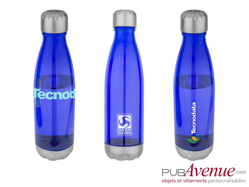 bouteille translucide personnalisable bidon