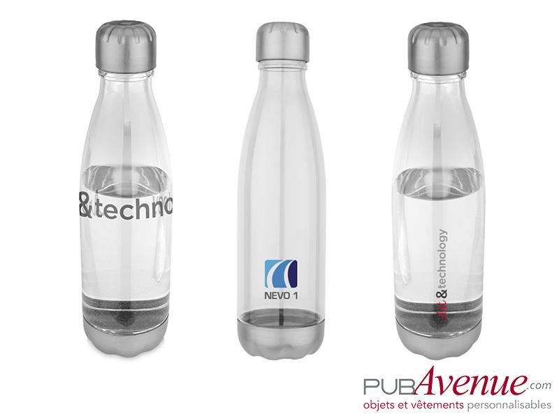 bouteille translucide bidon personnalisable