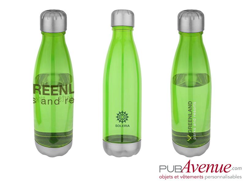 bouteille translucide bidon publicitaire