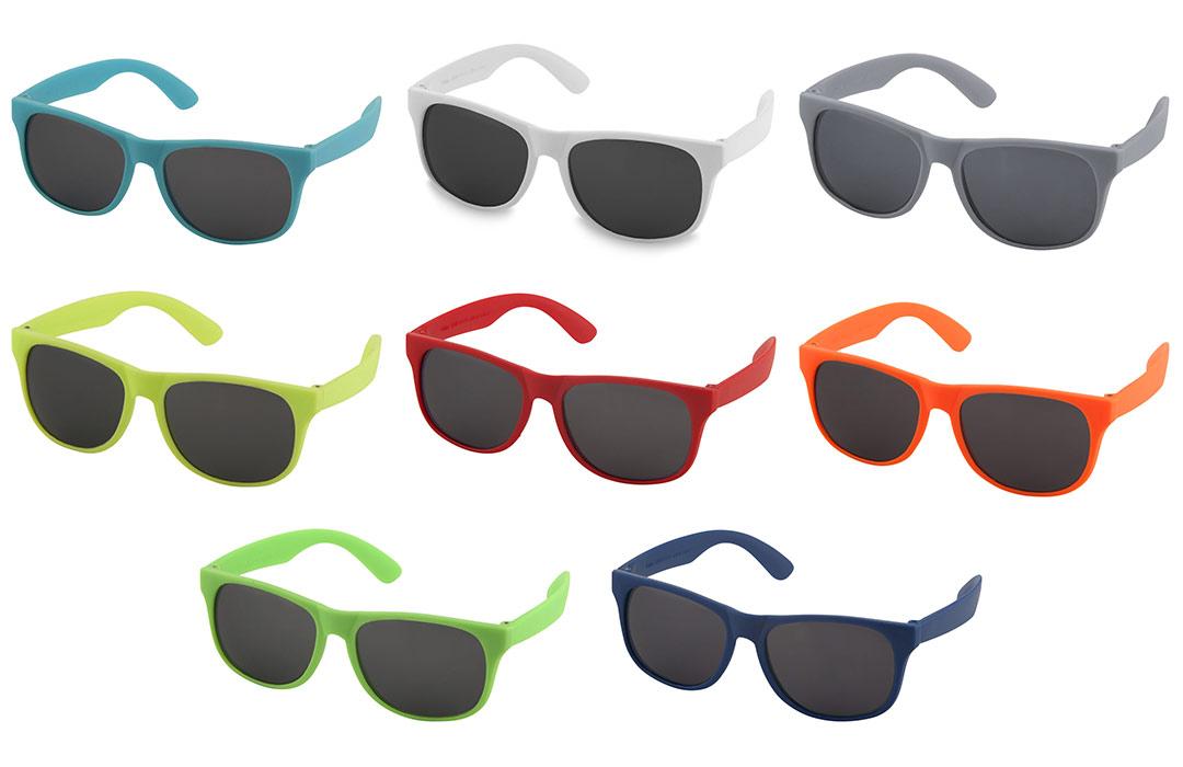 style exquis gamme complète de spécifications vraiment à l'aise Lunettes de soleil personnalisées plastique couleur