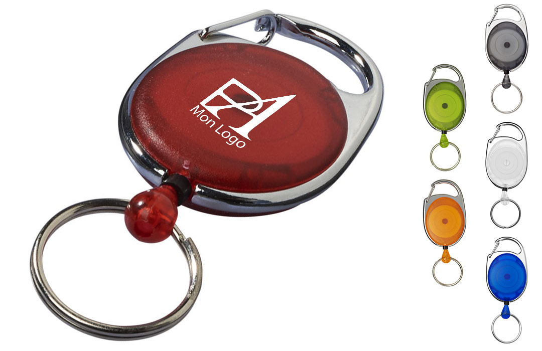 Clip Porte Badge Personnalisé Marquage Logo Texte Publicitaire Pas Cher - Porte badge pas cher