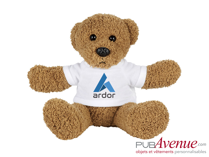 Peluche ours assis personnalisable