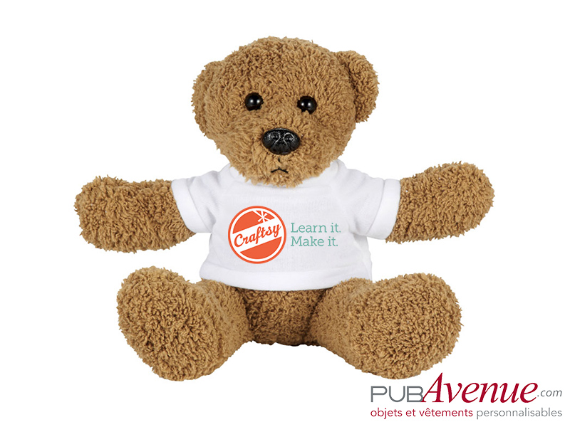 Ours assis peluche personnalisable