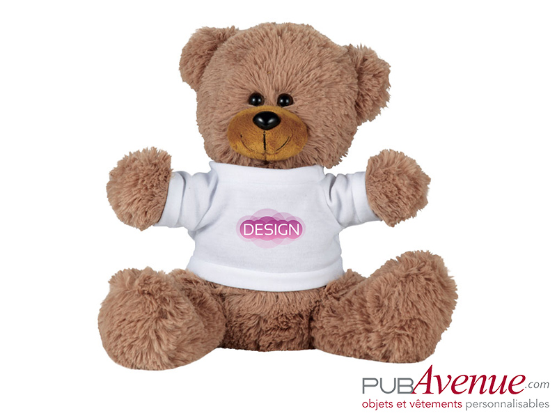 Peluche assise ours promotionnel