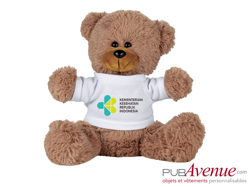 Peluche assise ours à personnaliser