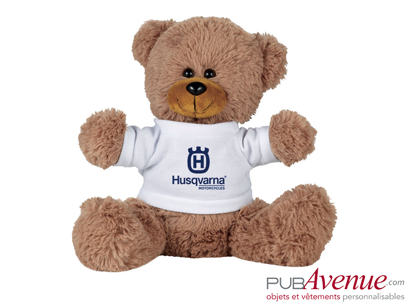 Peluche assise ours personnalisable