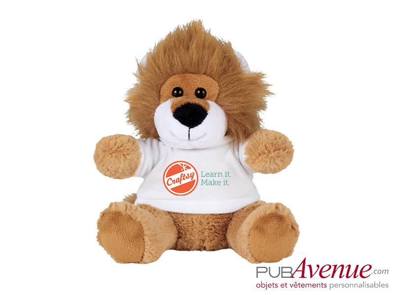 Peluche lion personnalisable