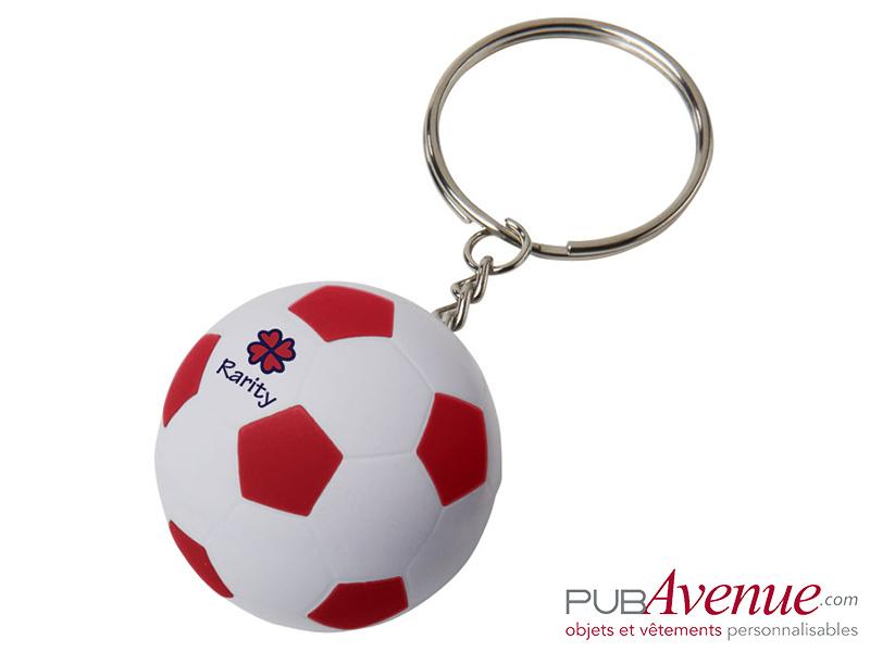 Porte-clés ballon de foot personnalisable
