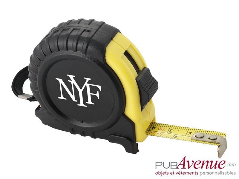 Mètre déroulant jaune personnalisé 5m