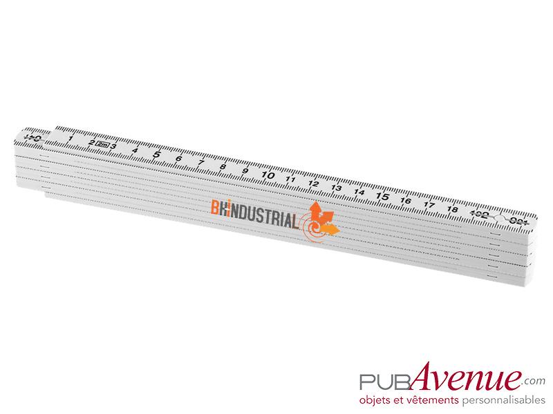 Grand mètre pliable blanc 2m publicitaire