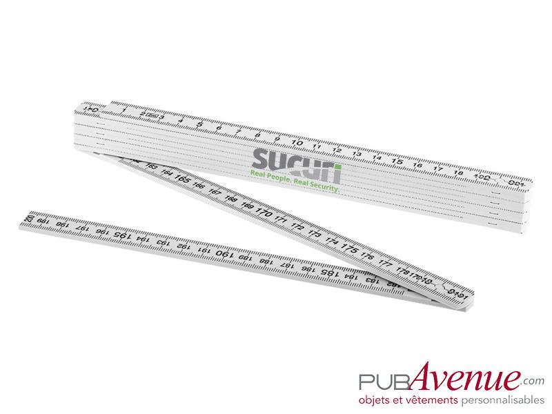 Grand mètre blanc pliable personnalisable 2m