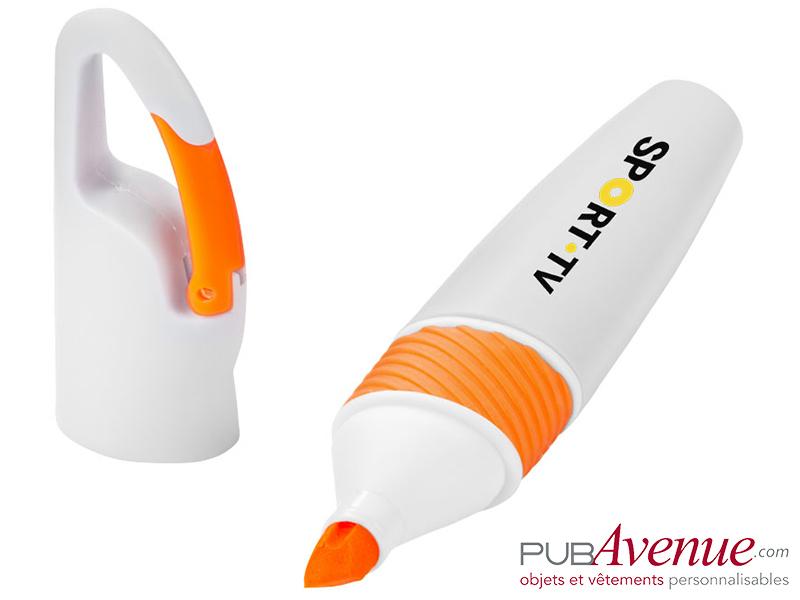 Surligneur mousqueton personnalisable fluo