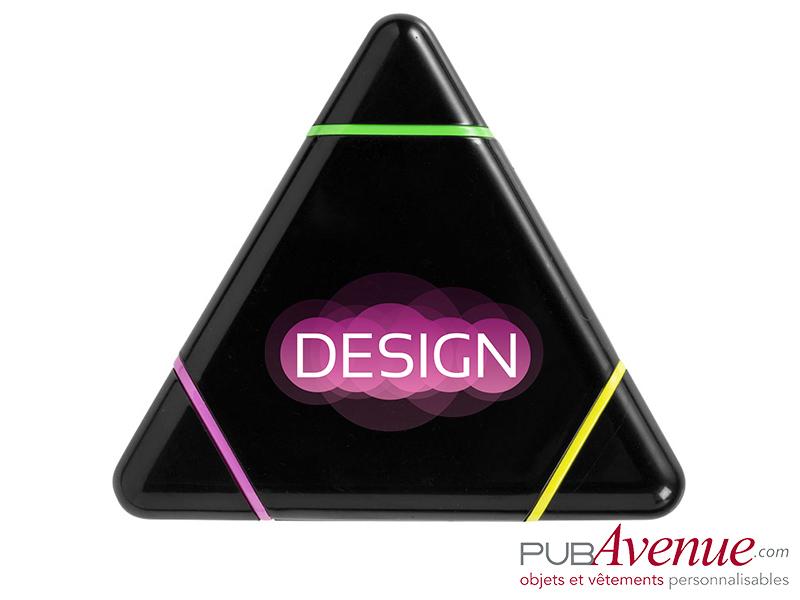 Surligneur triangle feutre fluo personnalisable