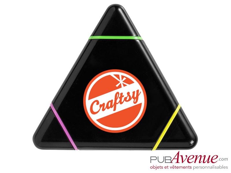 Surligneur triangle publicitaire feutre fluo