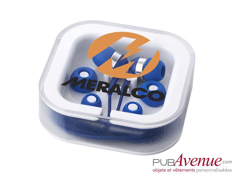 écouteurs personnalisables avec boîte