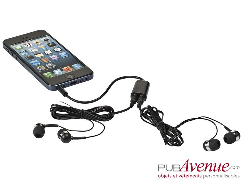 Set écouteurs audio personnalisable répartiteur