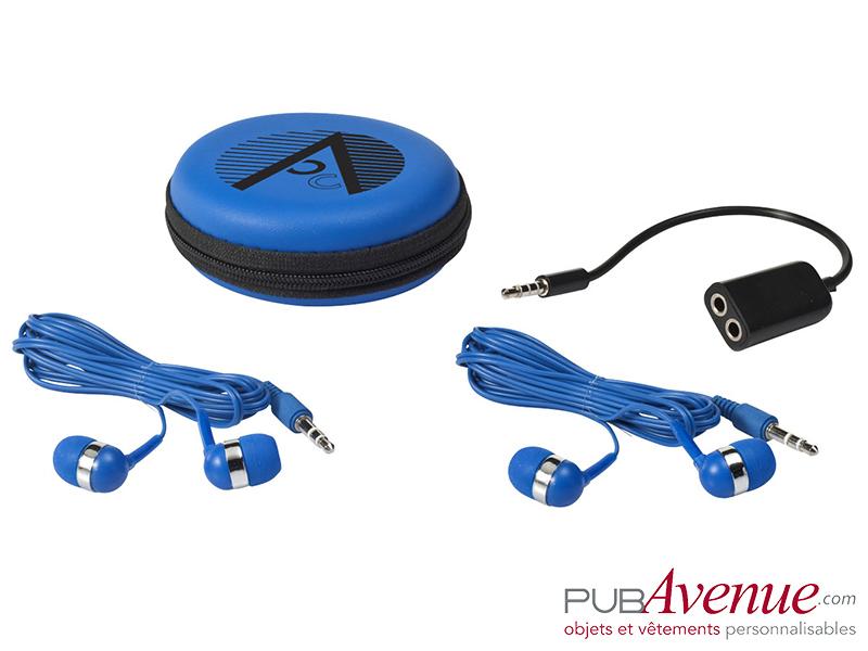 Set écouteurs audio personnalisé répartiteur