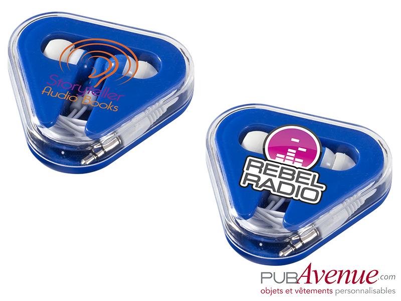 Écouteurs audio boîte triangle personnalisés