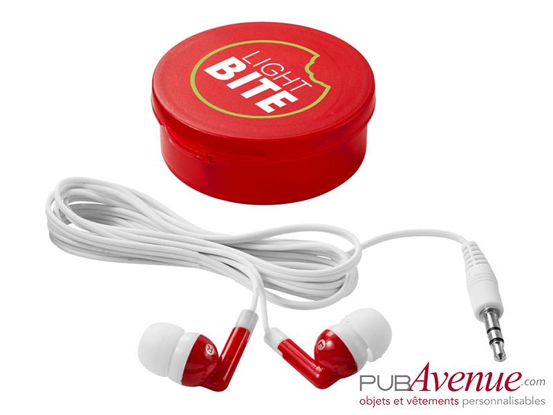 Écouteurs audio boîte personnalisés