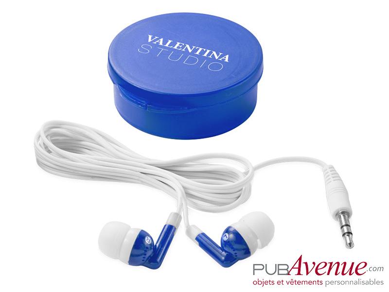 Écouteurs audio personnalisés boîte