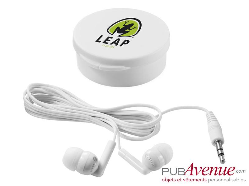 Écouteurs audio personnalisables boîte