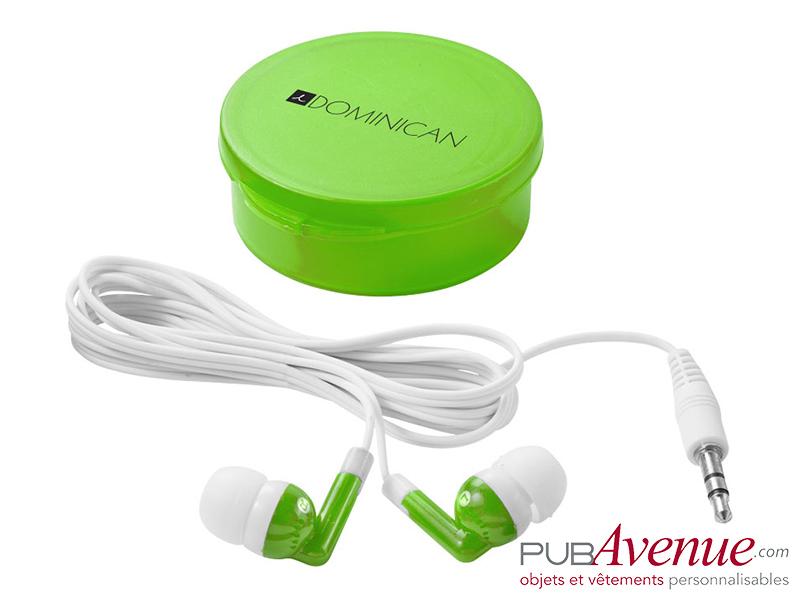 Écouteurs audio boîte personnalisables