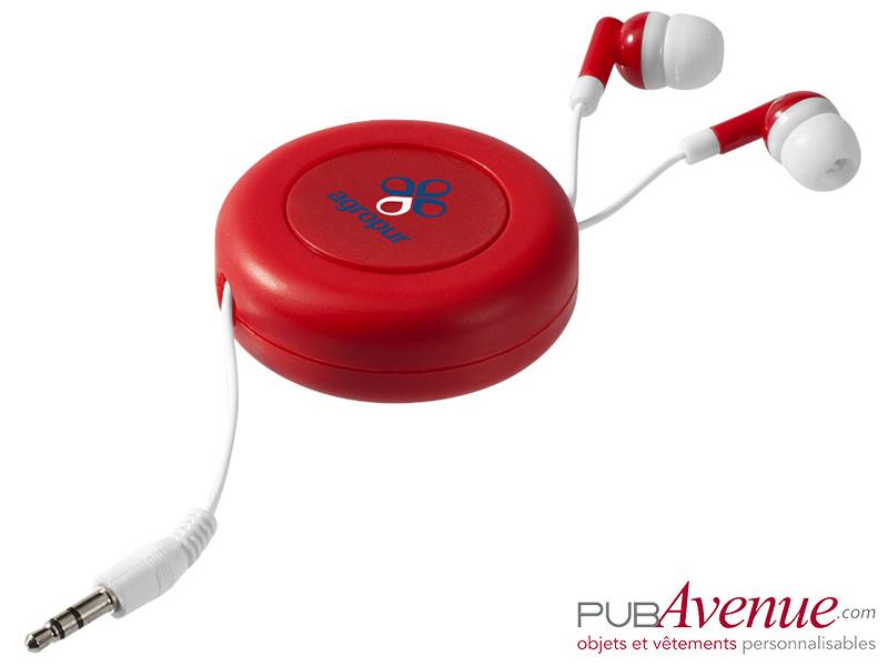 Écouteurs audio personnalisés rétractables
