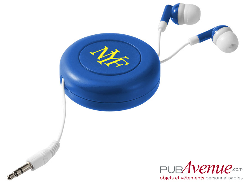 Écouteurs audio personnalisables rétractables